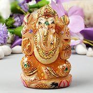 Exotic Ganesh Idol in Yellow Jade-334 gms
