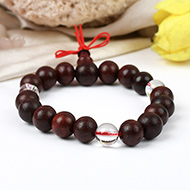 Red Sandalwood and Sphatik Beads bracelet