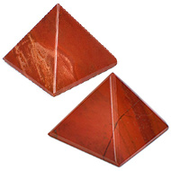 Pyramid in Natural Red Jasper - Set of 2 - I
