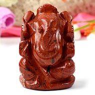 Red Jasper Ganesha - 139 gms