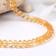 Citrine Faceted Mala - Button shape