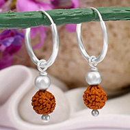 Rudraksha Earrings Set - X