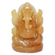 Yellow Jade Ganesh - 294 gms