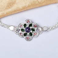 Pure silver Rakhi - Design IV