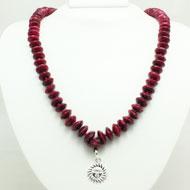 Pink Ruby beads mala