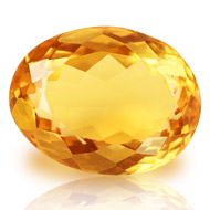 Yellow Citrine - 7.25 carats - Oval