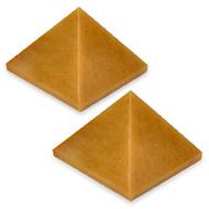 Pyramid in Natural Yellow Jade - set of 2