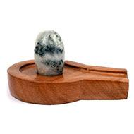 Bana Lingam with Stone Yoni base - LXXX