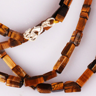 Tiger eye box shape mala - 9 mm