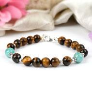 Tiger Eye and Amazonite bracelet