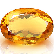 Yellow Citrine - 152.45 carats - Oval