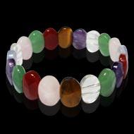 Navratna Gemstone Faceted Bracelet - Oval Beads