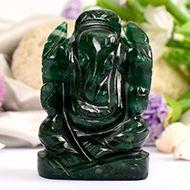 Green Jade Ganesha - 116 gms - I