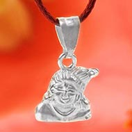 Krishna Locket in Pure Silver - Design V