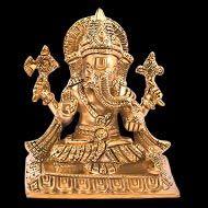 Vighnaharta Ganesh in Brass