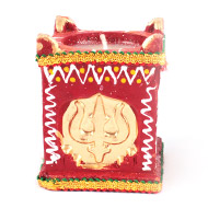 Om - Shri - Swastik - Trishul Earthern Lamp