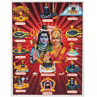 Dwadash Jyotirlinga Photo - Large - Design III
