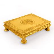 Floral pedestal in brass - I
