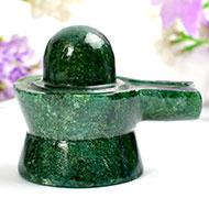 Green Jade Shivlinga - 137 gms