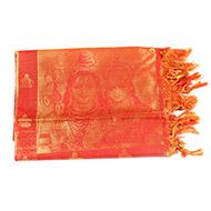 Shiv and  Parvati Shawl in Art Silk