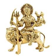 Durga Maa Sherawali in brass - Design II