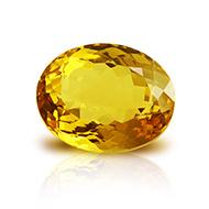 Yellow Citrine - 8.50 Carats - Oval