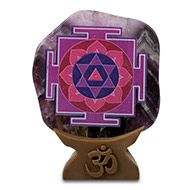 Shree Shiv Yantra on Amethyst