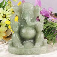 Ganesha in Light Green Jade - 1690 gms