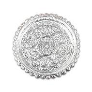 Designer Puja Thali in German  Silver