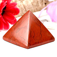Pyramid in Red Jasper-I