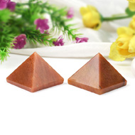 Pyramid in Natural - Red Jade - Set of 2