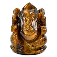 Tiger Eye Ganesha - 127 gms