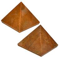 Pyramid in Yellow Jasper - Set of 2