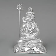 Meditation Mudra Shiva in pure silver - III