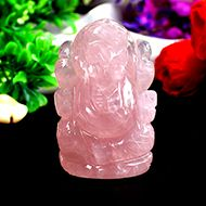 Rose Quartz  Ganesha - 72 gms