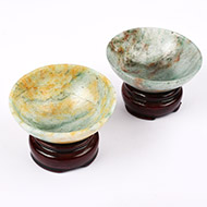 Green Jade Bowls - Set of 2
