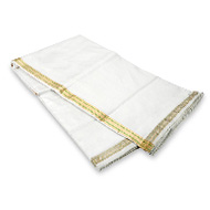 White Silk Dhoti with Shawl