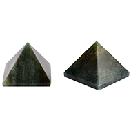 Pyramid in Natural Green Jade - Set of 2 - II