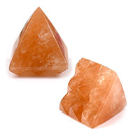 Multi Pyramid in Orange Jade-Protection and Joy - 28 gms