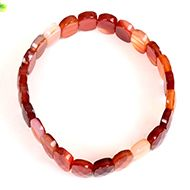 Carnelian Bracelet - Faceted Beads - II