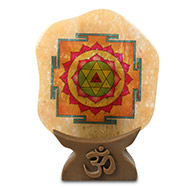 Shree Baglamukhi Yantra on Yellow Jade