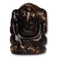 Gomedh Ganesha - 108 carat