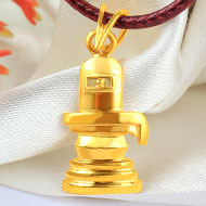 Shivling Locket in Pure Gold - 4.47 gms
