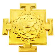 Siddh Meru Baglamukhi Yantra - Gold Polish