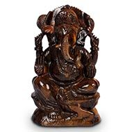 Tiger Eye Ganesha - 1340 gms