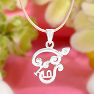 Tamil OM Locket in pure silver - I