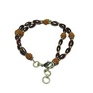 Rudraksha Garnet Bracelet - Double Turn