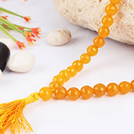 Yellow Agate Faceted mala - 8mm