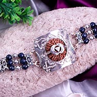 14 Mukhi Collector and Blue sapphire Bracelet (Third Eye)