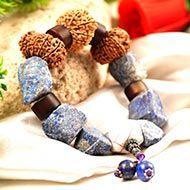 14 Mukhi and Lapiz gemstone bracelet (Third Eye)